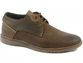 обувки-Мъжки обувки кафяви 9821