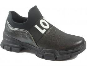 obuvki-Дамски обувки черни 9852