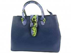 obuvki-Дамска чанта синя 9885