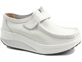 obuvki-Дамски обувки бели 10074