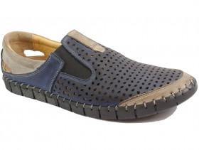 обувки-Мъжки обувки сини 10122