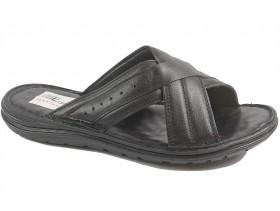 обувки-Мъжки чехли черни 10142