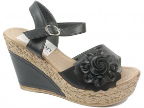 Дамски сандали черни 10196 - obuvki
