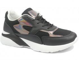 obuvki-Дамски обувки черни 10266