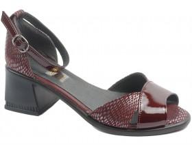 obuvki-Дамски обувки бордо 10597