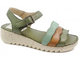 Дамски сандали зелени 10605 - obuvki