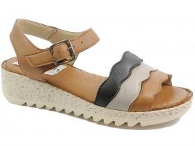 Дамски сандали кафяви 10606