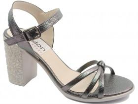 Дамски сандали графит 10612
