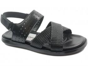 obuvki-Мъжки сандали черни 10696