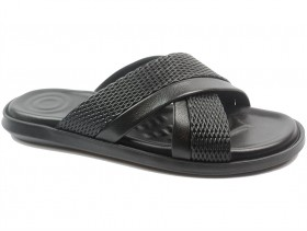 Мъжки чехли черни 10697 - obuvki
