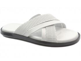 Мъжки чехли бели 10700 - obuvki