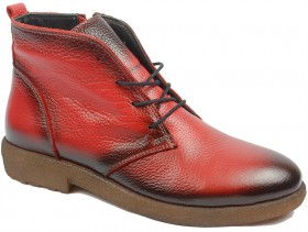 Дамски боти червени 10859 - obuvki