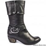 обувки - Дамски боти на ток с катарама 2457