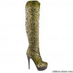 обувки - Дамски ботуши леопард 2544