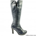обувки - Дамски ботуши сини 3373