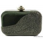обувки - Дамска чанта черна с камъни 4252