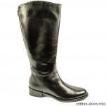 обувки - Дамски ботуши кафяви с цип отзад 4864