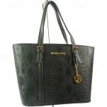 обувки - Дамска чанта черна змия 6289
