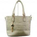 обувки - Дамска чанта сива 6306