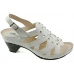 обувки - Дамски сандали бели 7052