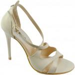 обувки - Дамски сандали бежови 7054