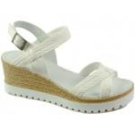обувки - Дамски сандали бели 7143
