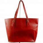 обувки - Дамска чанта червена 7147