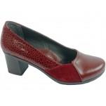обувки - Дамски обувки бордо 7671
